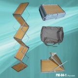 Zigzag Display Stand Brochure Racks with Wooden Tray (PM-04-1)