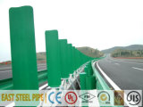 Galvanized PE Powder Coating Steel Guardrail