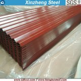Building Material 0.125-0.8mm Color Coated Corrugated Galvanized Steel Roofing Sheet