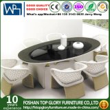 Patio Leisure Garden Outdoor Modern Rattan Dining Table Chair Furniture (TG-1222)