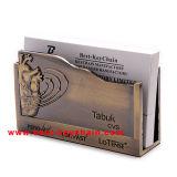 Custom Souvenir Die Casting Desktop Metal Name Card Holder (BK53362)