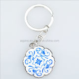 Bronze Key Chain with 2c Soft Cloisonne