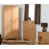 Wooden Bedroom Furniture Set with Wardrobe Dresser (BD12)