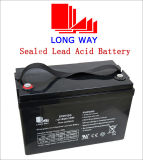 12V100ah/10hr Sealed Rechargeable Lead-Acid Battery for Solar Backup Battery