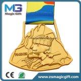 High Quality 3D Matt Gold Medal with Lanyard