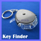 LED Torch Sound Control Anti Lost Key Finder Keychain Whistle Locator