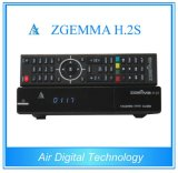 Original Zgemma H. 2s Twin Tuner DVB-S/S2 Linux HD Satellite Receiver