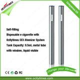 0.5ml Metal Tube Cbd Thc Hemp Oil Disposable Vape Pen