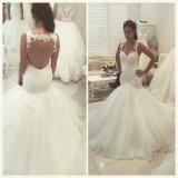 Sexy Wedding Dress Tulle Lace Mermaid Bridal Wedding Gown W1789