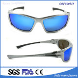 High Quality Men′s Cool Design Sports Sunglasses with Blue Lens