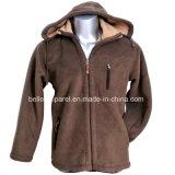 Custom Men′s Warm Hooded Polar Fleece Jacket