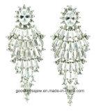 Geometric Earrings Statement Solid 925 Sterling Silver Dangle Chandelier Jewelry Hoop Earrings Women Lady Party Wedding Gift E6299