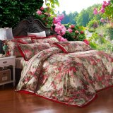 Classic Style Printed Jacquard Cotton Linen Luxury Bedding