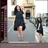Black Women Plus Size Summer Casual Dress (TMKF489)