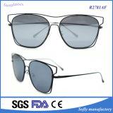 China Factory Full Metal Crossbar Technologic Flat Lens Sunglasses