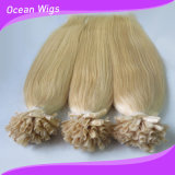 Thick Bottom Blonde Human Remy Italy Keratin Nail Tip Hair Extension