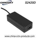 24VDC 2AMP Ce Approved Desktop Type CCTV Power Supply (S2420D)