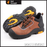 Brown Nubuck Leather Industrial Safety Shoe with Composite Toe (SN5180)