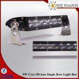 5D Lens 10-50V DC 5W Single Row LED Light Bar for Jeep, Offroad