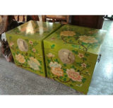 Antique Painted Wooden Trunk Lwf122