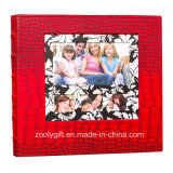 Red Crocodile Leather 4X6 Slip in 600 Photo Albums Wedding Albums with Windows