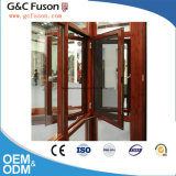 Double Tempered Glass Amercian Style Aluminum Wooden Window American