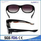 Elegant Style Purple Frame Promotion Colored Lens Fit Over Sunglasses