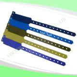 Hospital Custom Vinyl Plastic Wristbands Bracelet Bands (6060B7)