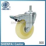 """4"""" PP Threaded Stem Swivel Locking Caster Wheel"""