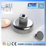 Strong N40 D25.4xh16.992mm High Quality NdFeB Potn08 Magnet