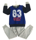 Fashion French Terry Children Clothes Outdoor Sports Wear Hoodie Suit for Boy Swb-101