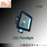 IP65 50W LED Floodlight with Sensor with CE