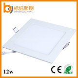 12W Ultrathin Square Panel Factory Direct Sale Flush-Mounted Slim LED Ceiling Lamp for Home