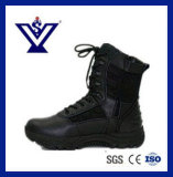 Black Genuine Leather Tactical Desert Boots Army Boots (SYSG-251)