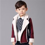 T1178 2015 Wholesale Chines Brand Newest Thick Warm Berber Fleece Solid Contour Boys Fashion Coat Winter Jacket Kids Casual Outerwear