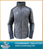 Ladies Grey Micro Fiber Polyester Fleece Jacket with High Quality