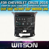 Witson Car DVD Player with GPS for Chevrolet Cruze 2015 (W2-D8424C) with Capacitive Screen Bluntooth 3G WiFi CD Copy