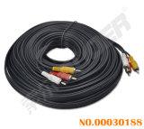 Extended 20m AV Cable Male to Male 3 RCA to 3 RCA AV Cable (AV-36A-20m-white-transparent bag)