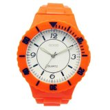 Custom Design Changeable Face Orange Face Silicone Jelly Watch