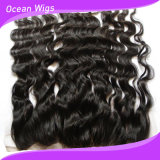 Customized Color 100% Tangle Free 100% Remy Human Hair Virgin Hair Silk Top Closure Lace Frontal (F-005)