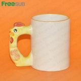 Freesub 11oz Sublimation Coated Animal Mugs Cock (MKB24)
