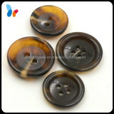 Imitate Horn Smooth Black Resin Button for Men′s Suits