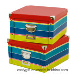 Classical Stripe Underwear Foldable Storage Paper Boxes
