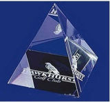 Popular Design Crystal Glass Pyramid, Crystal Glass Paperweight