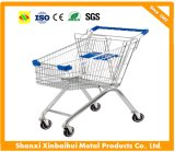 The Most Favorable 60-210 Liter European and Asian Metal Supermarket Shopping Trolley Cart with Baby Seat