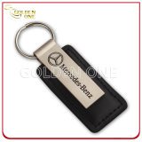 Rectangular Shape Personalized Soft Enamel Metal & Leather Key Chain