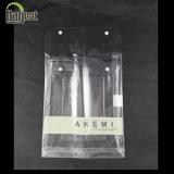 Household Textile Button Zipper Transparent PVC Bag, for Packaging