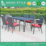 Wicker Stackable Chair Dining Set Garden Chair Hotel Project Hot Sale Chair Rectangle Table (Magic Style)