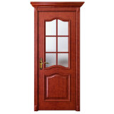Oppein Red Cherrywood Interior Door with Glass (MSGD14)