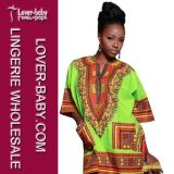 Casual Lady Traditional African Formal Shirt Dresses (L28068-2)